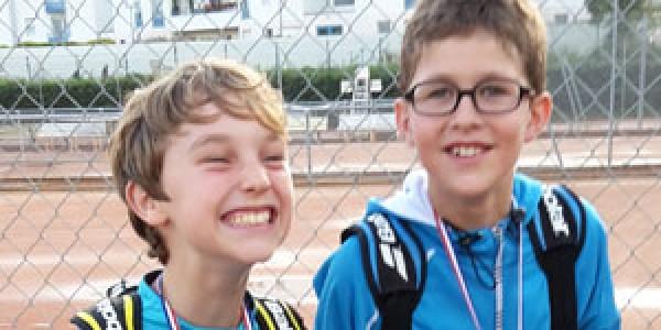Léandre et Lucas au championnat de double